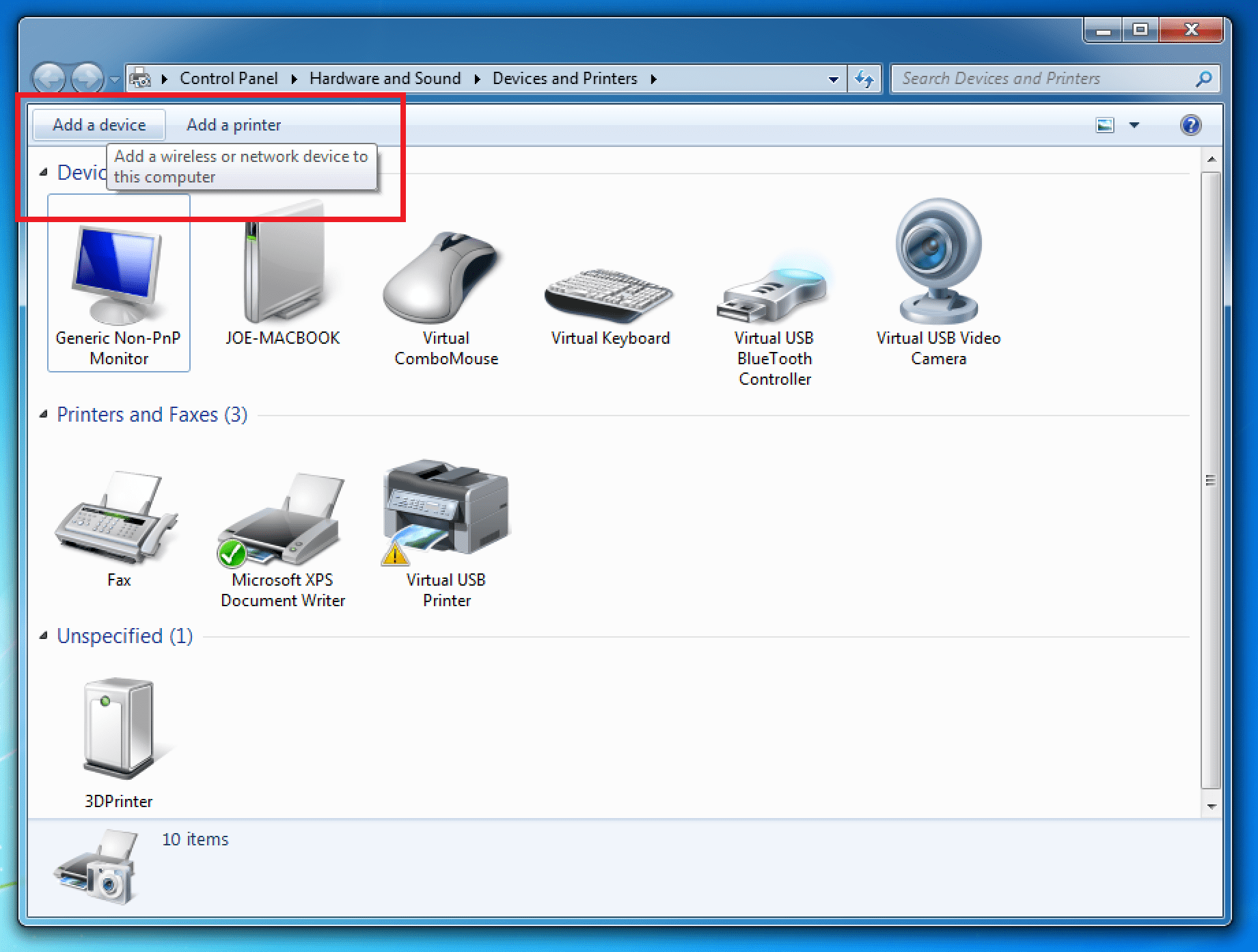 how to connect bluetooth device to windows 7